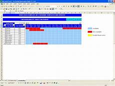 Booking Schedule Template Car Rental Reservations Excel Templates