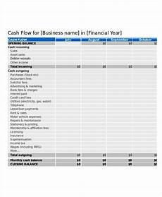 Sample Cash Flow Projection For Small Business Small Business Cash Flow Statement