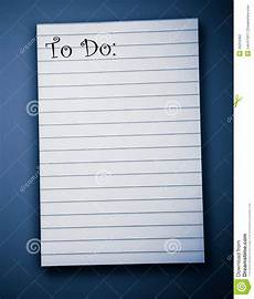 Do To Do List Blank To Do List Stock Photo Image Of Education Paper