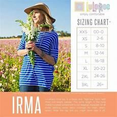 Sizing Chart For Lularoe Irma 37 Best Lularoe Sizing Images On Pinterest