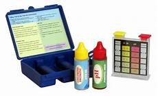 Swimming Pool Test Chart Swimming Pool Water Test Kit For Chlorine Bromine And Ph