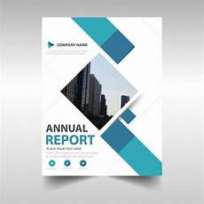 Report Cover Templates Blue Creative Annual Report Book Cover Template Vector