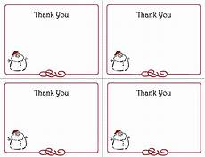 Printable Christmas Note Cards 5 Best Images Of Free Printables Thank You Card Template