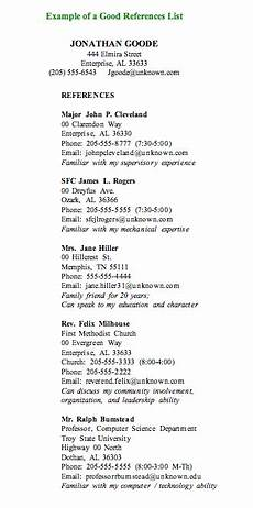 Example Of A Reference List How To Write A Job Reference Page Reference Page For
