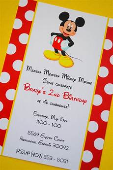 Mickey Mouse Birthday Invites Mickey Mouse Birthday Invitations Ideas And Template