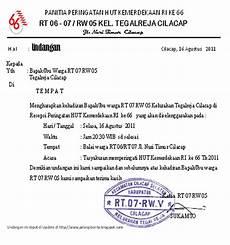 contoh undangan pembentukan panitia hut ri contoh isi