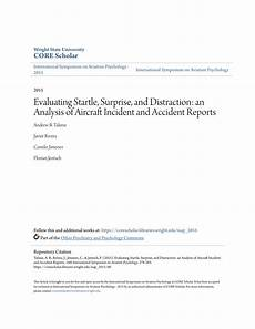 Aircraft Incident Report Pdf Evaluating Startle Surprise And Distraction An