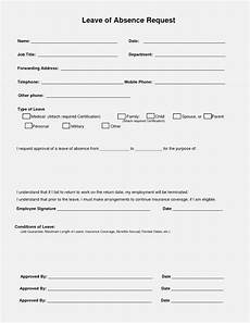 Absence Request Form Template 14 Great Leave Of Absence Realty Executives Mi Invoice