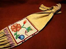 beadwork cree or blackfoot style pipebag northvoice