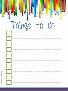 Things To Do Template Printable To Do List Template