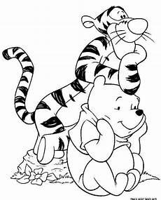 winnie the pooh coloring pages free tiger