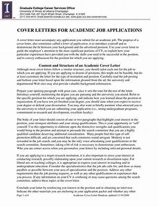Academic Job Cover Letter Sample Academic Job Cover Letter Templates At
