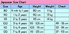 Japanese Clothing Size Chart Little Mr Amp Miss Japanese Size Chart