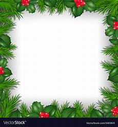 Free Christmas Borders Christmas Border From Holly Berry Royalty Free Vector Image