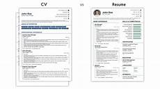 Resume Cv Sample Cv Vs Resume What Are The Differences Amp Definitions