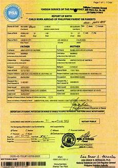 Birth Certificate Example How Get Birth Certificate In Philippines 2020 Step By
