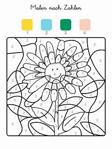 ausmalbild malen nach zahlen sonnenblume ausmalen