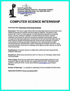 Computer Science Internship Cover Letter The Best Computer Science Resume Sample Collection