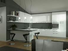 cucina con cucina con penisola con top nero mi piace