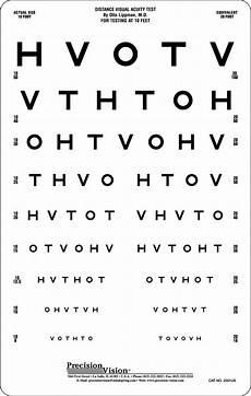Eye Sight Chart Hotv Eye Chart 10 Ft Precision Vision
