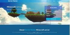 Minecraft Server Website Template Minecraft Website Template With Server Info Server