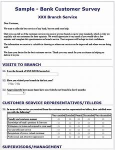 Customer Service Survey Questions Template 13 Free Sample Bank Customer Survey Printable Samples