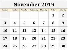 November Calendar Printable November 2019 Blank Calendar Collection