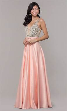 blush pink prom dress with sequin bodice