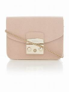 Bag Light Pink Furla Metropolis Light Pink Mini Flapover Crossbody Bag In
