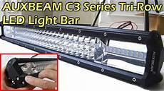 40000 Lumen Led Light Bar Auxbeam C3 Series Tri Row Led Light Bar Review Youtube
