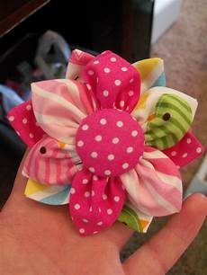 our fabric flower tutorial