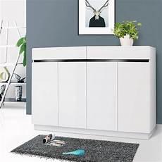 new white high gloss shoe cabinet rack storage organiser