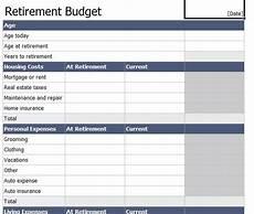 Retirement Budget Planner Retirement Budget Worksheet Retirement Budget Template