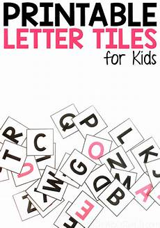 Alphabet Letters Printable Printable Alphabet Letter Tiles From Abcs To Acts