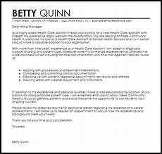 Cover Letter For Healthcare Job Health Care Assistant Cover Letter Sample Cover Letter