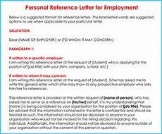 Personal Reference Job Application Personal Reference Letter 11 Samples Formats