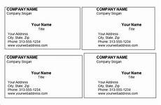 Business Card Template Word Free Download Free Printable Business Card Templates With Images