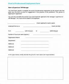 Proof Of Employment Templates Free 5 Sample Proof Of Employment In Ms Word Pdf