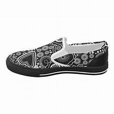Canvas Slip Cover For Sofa Png Image by Black And White Ornament S Slip On Canvas Shoes