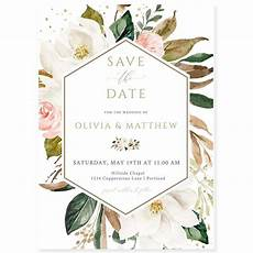 Save The Date Card Design Magnolia Save The Date Invitation Forever Your Prints