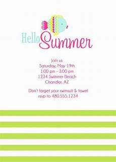 Summer Party Invitations Templates Card Template Summer Party Invitations Card Invitation