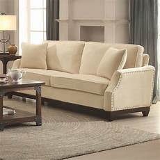 acklin transitional sofa with nail trim track arms