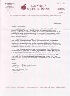 Teacher Recommendation Letter For Student Kathryn Little Letters Of Recommendation Student Teaching