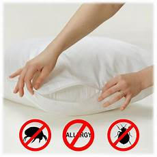 4 pack allersoft 100 cotton allergy bed bug pillow