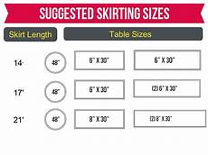 Cv Linen Chart Table Skirting Size Chart Cv Linens