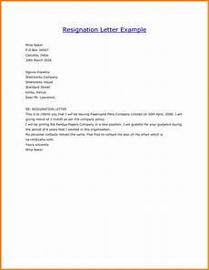 Form Resignation Letter Resignation Letter Samples