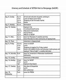 itinerary format visit itinerary templates 4 free pdf format download