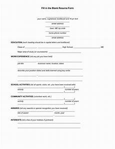 Student Resume Templates Free 25 Free Blank Resume Templates Printable In 2020 Resume Form