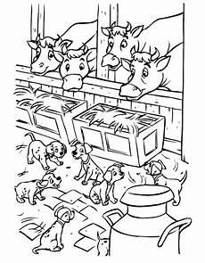 n de malvorlage 101 dalmatiner puppies im stall