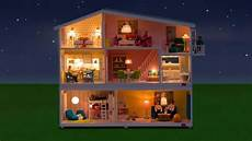 Barbie Doll House With Lights Lundby Sm 229 Land Doll House Now With Remote Control Lighting